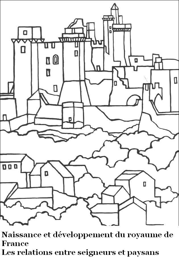 Coloriage De Chateaux.Coloriages Chateaux Forts 20 Ma Maitresse De Cm1 Cm2