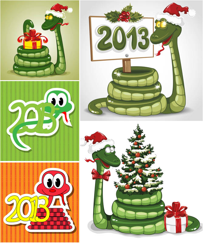 2013-new-year-snake-vector