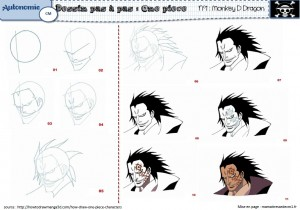 Pour dessiner les personnages de one piece ma maitresse de cm1 cm2 - Zoro one piece dessin ...