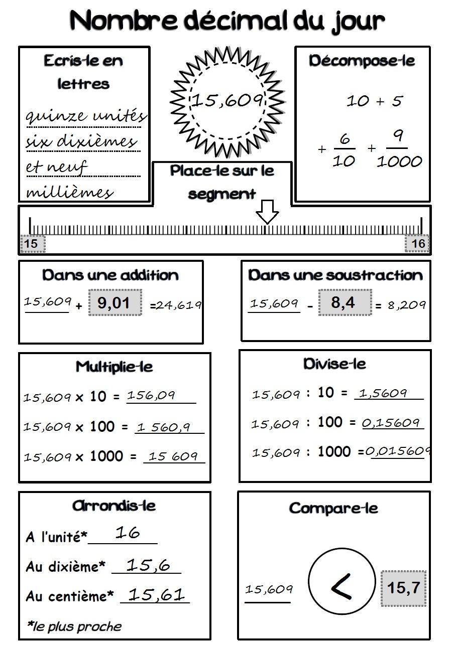 décimaux | MA MAITRESSE DE CM1-CM2