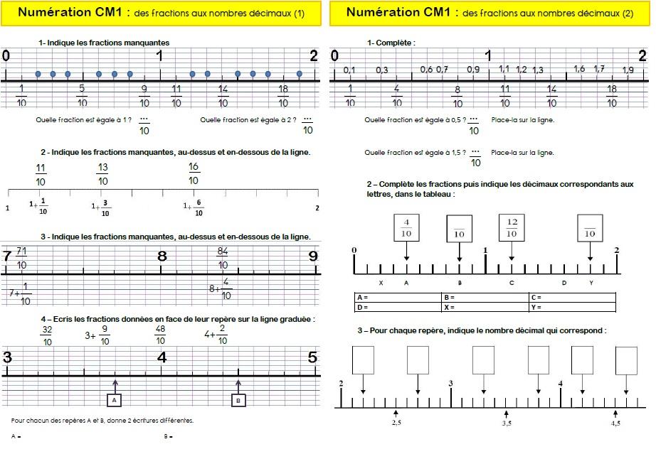 Fractions Ma Maitresse De Cm1 Cm2
