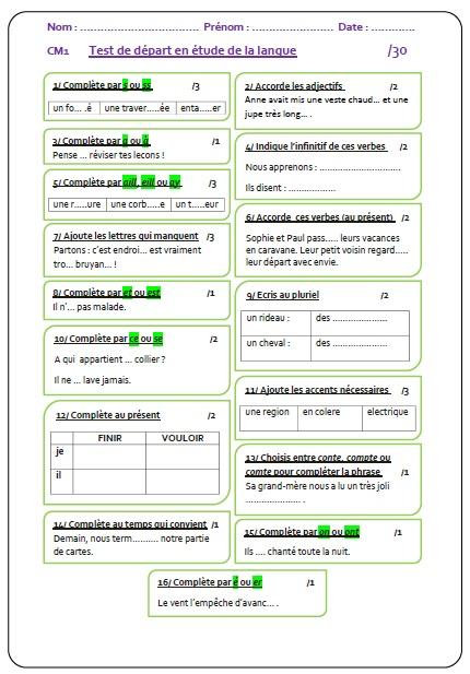 orthographe   MA MAITRESSE DE CM1-CM2