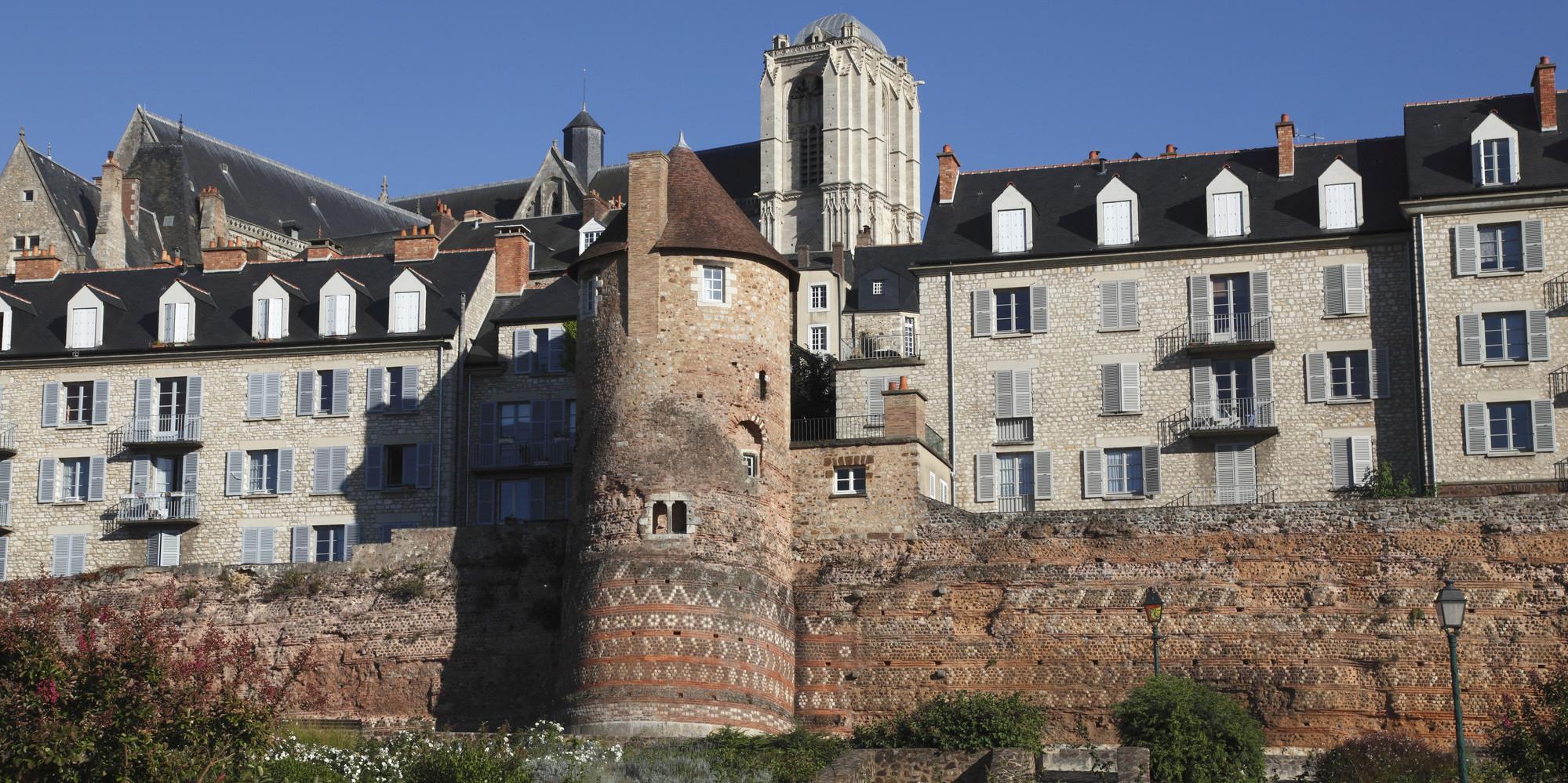 France, Pays de la Loire, Sarthe (72), Le Mans, Cite Plantagenet and gallo romain ramparts (3th century)